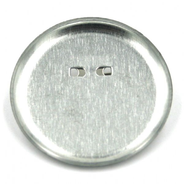 10 x 35mm Silver plated circular brooch back with pin